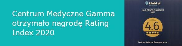 Centrum Medyczne Gamma otrzymało nagrodę Rating Index 2020 - zdjęcie