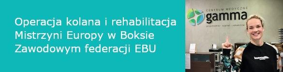 Operacja kolana i rehabilitacja Mistrzyni Europy w Boksie Zawodowym federacji EBU - zdjęcie